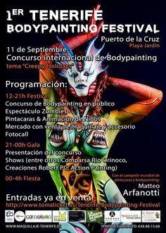 Grupo Mascarada Carnaval: Primer Tenerife Bodypainting Festival en el Puerto...
