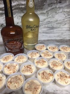 Banana pudding and nilla wafers always make a great dessert. now, with alcohol! 1 box sugar free banana pudding ¾ cup skim milk ¼ cup vanilla whiskey cream ½ cup Banana rum 1 tub of fat free whipp… Pudding Shot Recipes, Jello Pudding Shots, Jello Shot Recipes, Alcohol Drink Recipes, Jello Shots, Rum Cream, Banana Cream, Cream Pie, Whiskey Cream