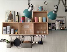 Copenhagen Airbnb Flat with Box Shelving | Remodelista what a cool concept