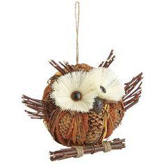 Natural Owl Ornament
