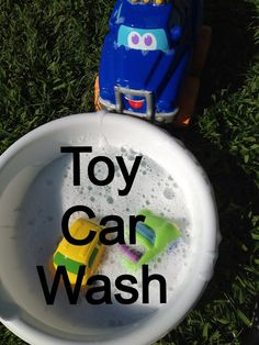 Toddler play idea: Toy car wash