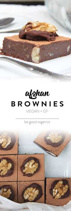 Raw Afghan Brownie - Be Good Organics. With dates, cacao, walnuts.
