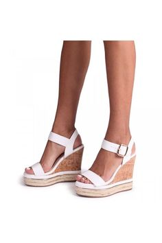 White Espadrilles, Closed Toe Espadrilles, April White, Swing Tags, Cork Wedges, Wedge Sandals, Platform, Ship