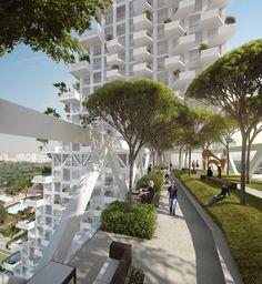 moshe safdie designs fractal-based sky habitat for singapore  - designboom | architecture & design magazine