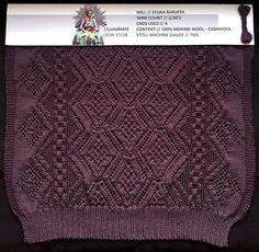 Designer Marion Kunz, knitGradeur: FIT & Baruffa Collaboration 2016: Linear Stitch Design Project Featuring Cashwool