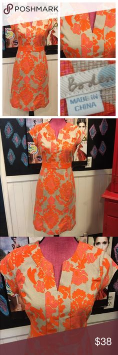 """Boho fun dress sz6 😍 boden Super great colors boho dress worn once size 6 chest is34"""" waist is 28"""" hips are 38"""".  I love the orange and pink. Boden Dresses"""
