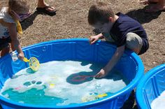 Also fall festival idea Kiddie bubble pool!