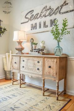 20 Awesome Farmhouse Decoration Ideas Tall SideboardFrench SideboardSideboard IdeasDining Room