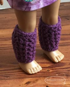 "18"" doll slouchy and leg warmers setl. Free crochet pattern by Ambassador Crochet. - will fit American Girl, Our Generation, Journey girls, and many more brand dolls."