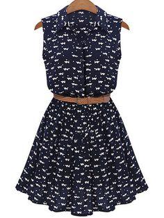Shop Lapel Cat Print Shirt Dress online. SheIn offers Lapel Cat Print Shirt Dress & more to fit your fashionable needs.