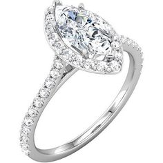 This brand new ring is made of Solid 14k white gold and authenticated with a 14k stamp. It has a dazzling high polished finish with Rhodium plating to make its shininess last longer . The Moissanite m