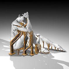 work in progress #3dprinting #artstech #sculpture #glitch by sophie_k_kahn