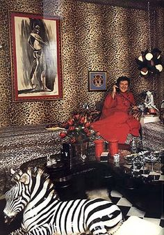 Liberace in the Safari Room at the Cloisters - Palm Springs