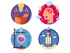 Innovative ideas icons by Kit8