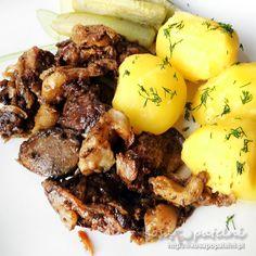 Wątróbka drobiowa z jabłkiem i cebulą Pot Roast, Soul Food, Pork, Food And Drink, Dinner, Cooking, Polish Food, Ethnic Recipes, Hogwarts