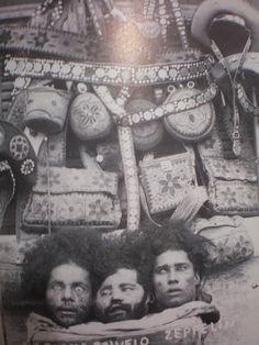 Foto na História: 3 CANGACEIROS DECAPITADOS