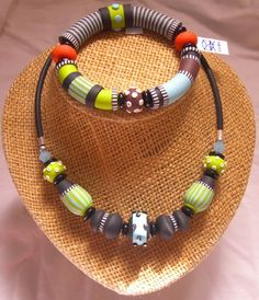my new african style by vicka - polymer clay art, via Flickr