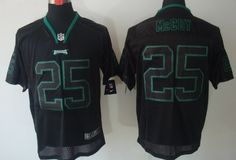 Nike Philadelphia Eagles #25 LeSean McCoy Lights Out Black Elite Jersey