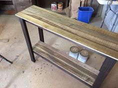 recycled pallet sofa table and foyer table