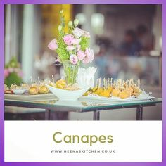 Our decadent Indian inspired #canap�s #bowlfood #heenaskitchencurry
