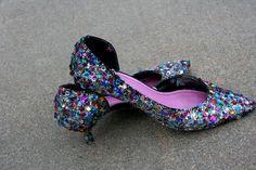 DIY Shoes Refashion: DIY Sequin Heels