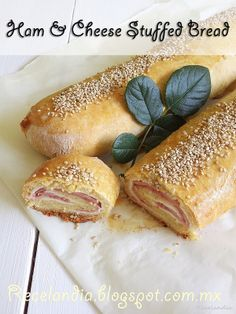 Ham & Cheese Stuffed Bread