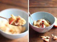 Porridge d'avoine à la butternut, sirop d'érable et pomme