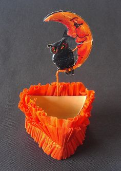 1930's Halloween Nut Cup / 'Owl and Moon' by RyokosVintiques, $28.00