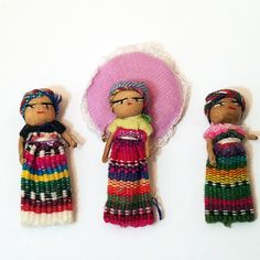 Raffle: Set of Three Tiny Worry Dolls - http://rafflebazaar.com/product/raffle-set-three-tiny-worry-dolls/ - #Gifts, #Sundries, #Trinkets