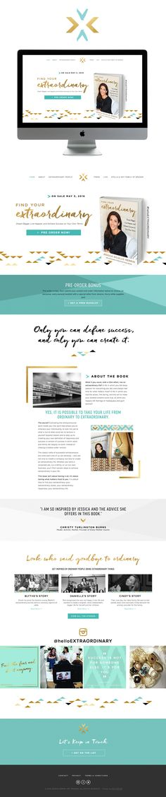 inspiring chic smart Squarespace website design | designed by golivehq.co