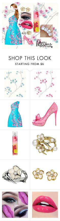 """In Full Bloom"" by lil1daffodil2baby3girl4 ❤ liked on Polyvore featuring Graham & Brown, Monique Lhuillier, Valentino and Shaun Leane"