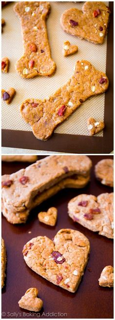 Homemade Dog Food Peanut Butter Bacon Dog Treats - pups LOVE them and they're so easy to make. - Because your pup deserves some home baked goodies too! Yield: depends on the size of your cookie cutter Bacon Dog Treats, Peanut Butter Dog Treats, Diy Dog Treats, Homemade Peanut Butter, Healthy Dog Treats, Doggie Treats, Horse Treats, Dog Biscuit Recipes, Dog Treat Recipes