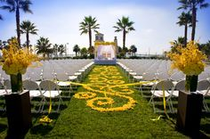 "Wedding aisle swirl design.  Do with ""pixie dust"" (gold confetti) instead of rose petals."