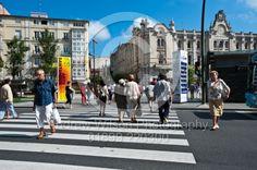 Street scene in Santander, Spain