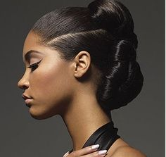 African American Hair Tips & Tricks ~ Image detail for -Trendy african american woman hairdo with an elegant style.JPG