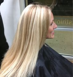 Blonde With Caramel Lowlights Cool Hair Color Colour Straight Hairstyles Pretty