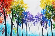 wine and canvas rainbow tree - Bing Images