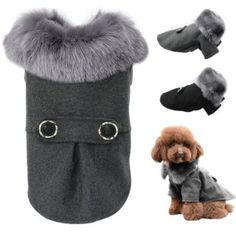 Dog Clothing For Small Medium Dogs Pet Pug Chihuahua Clothes Winter Roupas Pet Puppy Yorkie Dog Coat Jacket With Fur on Pet Supplies 9231 Pet Pug, Chihuahua Clothes, Yorkie Dogs, Puppy Clothes, Small Dog Coats, Small Dogs, Large Dogs, Small Dog Clothes, Dog Cat