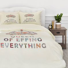 East Urban Home Bianca Her Daily Motivation Duvet Cover Set Size: Twin/Twin XL
