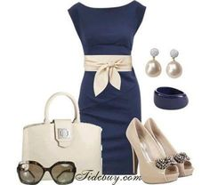 Gorgeous outfit. Would be really nice for a guest at a wedding.