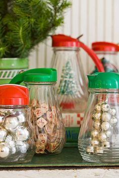 Love these old syrup jars!  I put dish soap in mine.  This blog makes me smile!!!  Such great ideas!!!