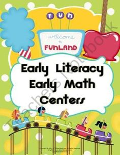 WELCOME TO FUNLAND 9 Math & Literacy Activities  product from RFTS-Preschool on TeachersNotebook.com