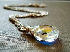 Garnet Til Alexandros XVII - Swarovski Crystal on Sterling silver. $36.00, via Etsy.