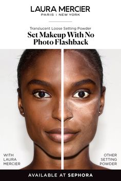 No need to worry about flashback, our setting powder will make you camera-ready. Laura Mercier's Translucent Loose Setting Powder sets makeup for all-day wear with a matte finish. Makeup Tips, Beauty Makeup, Eye Makeup, Beauty Tips, Beauty Products, Witch Makeup, Makeup Salon, Scary Makeup, Makeup Studio