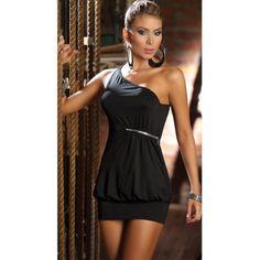 Dámské šaty černé B-Fashion cerna