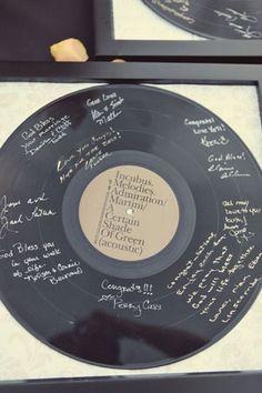 "Vinyl ""guest book"""