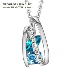 Neoglory MADE WITH SWAROVSKI ELEMENTS Crystal Auden Rhinestone Pendant Neckalce for Women Female 2014 New Romantic Jewelry
