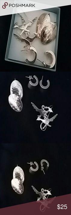 Earrings final price 925 serling sliver earrings Jewelry Earrings