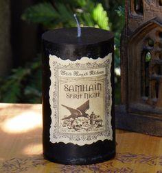 White Magick Alchemy - Samhain Spirit Night Witches Candles . Halloween…