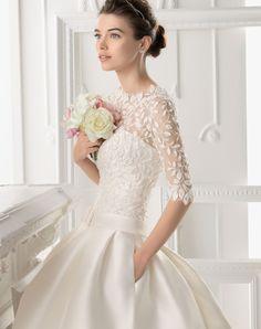 aire barcelona wedding dresses 2014   2014 blush pink wedding dress ideas aire barcelona 2014 bridal gown ...